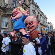 """Londone į protestą renkasi """"Brexit"""" priešininkai"""