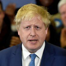 Britanijos lyderio posto siekiantis B. Johnsonas išdėstė savo planus