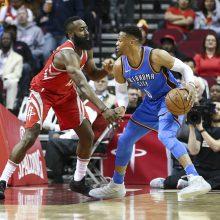 """Brangiausių NBA duetų viršūnėje – """"Rockets"""" gynėjai"""