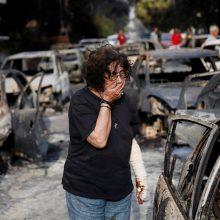 Pražūtingi gaisrai Graikijoje: nelaimės aukų padaugėjo iki 79