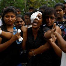 Sprogdinimų Šri Lankoje aukų skaičius padidėjo iki 359