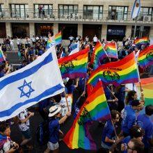 Tūkstančiai žmonių dalyvavo homoseksualų parade Jeruzalėje