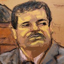 """Meksikiečių narkotikų baronui """"El Chapo"""" JAV skirta įkalinimo iki gyvos galvos bausmė"""