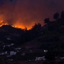 Dėl didžiulio gaisro Kanarų salose evakuota 8 tūkst. žmonių