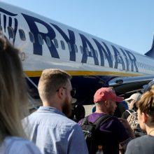 """Nepaisant streikų """"Ryanair"""" lėktuvai kyla beveik be trukdžių"""