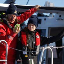 G. Thunberg grįžo į Europą pasinaudodama vėju ir burėmis