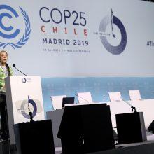 G. Thunberg: turtingųjų šalių įsipareigojimai dėl klimato – klaidinami