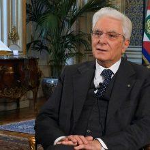 Italijos prezidentas Velykas švenčia vienumoje