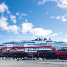 Norvegijoje karantinuotame kruiziniame laive COVID-19 atvejų padaugėjo iki 53
