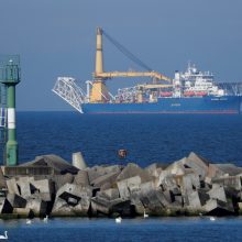"""Rusijos laivas netrukus įsitrauks į """"Nord Stream 2"""" tiesimą"""