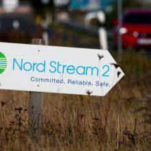 """""""Gazprom"""" teigia mananti, kad """"Nord Stream 2"""" dujotiekis bus užbaigtas šiemet"""