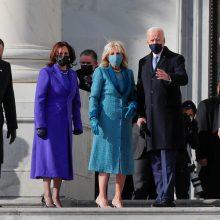 J. Bidenas atvyko į inauguraciją Kapitolijuje