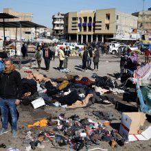 Bagdado centre nugriaudėjus dviem sprogimams žuvo beveik 30 žmonių