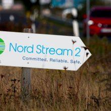 """Vokietijos bendrovė skelbia užbaigusi """"Nord Stream 2"""" projekto finansavimą"""