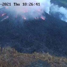 Karibų jūros Sent Vinsento saloje išsiveržė ugnikalnis
