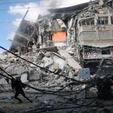 Per Izraelio aviacijos smūgius Gazos Ruože žuvusių žmonių skaičius padidėjo iki 83