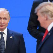 D. Trumpas nesako žurnalistams, apie ką kalbėsis su V. Putinu