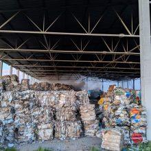 Didelis gaisras Marijampolės sąvartyne: degė plastmasinės atliekos