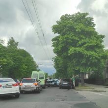 Eismo įvykis Dainavos mikrorajone: susidūrė net keturi automobiliai