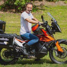 Motociklu aplink pasaulį – per 40 dienų