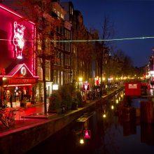 Amsterdamas uždraus ekskursijas Raudonųjų žibintų kvartale