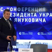 V. Janukovyčius Ukrainoje jam paskelbtą nuosprendį vadina neteisėtu
