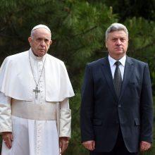 Šiaurės Makedonijoje popiežius ragina Balkanus priimti įvairovę