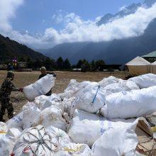 Everesto kalno regione uždrausti vienkartiniai plastiko gaminiai