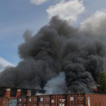 Berlyno vietnamiečių turgų apėmė didelis gaisras