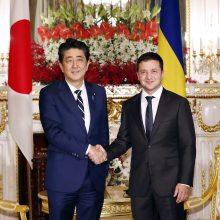 Ukrainos prezidentas V. Zelenskis atvyko vizito į Japoniją
