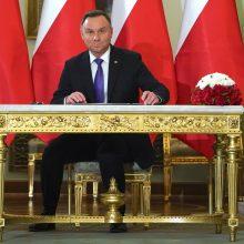 Lenkijos prezidentas A. Duda lankysis Lietuvoje