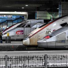 Prancūzijos geležinkelininkų streikas pasiekė trukmės rekordą