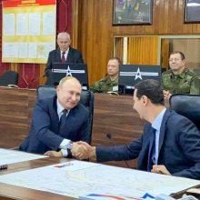 Netikėtai į Damaską atvykęs V. Putinas susitiko su B. al Assadu