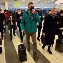 JAV griežtai smerkia A. Navalno sulaikymą Rusijoje