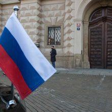 Maskva: Rusijos ir Čekijos ambasadose liks po septynis diplomatus
