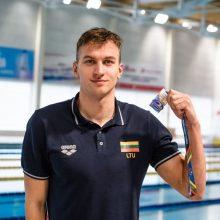 Finišavo Lietuvos plaukimo čempionatas, geriausiu jo plaukiku tapo A. Šidlauskas