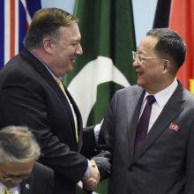 Šiaurės Korėja: JAV valstybės sekretorius yra nuodingas augalas