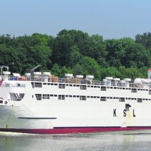 """Bandymas: Klaipėdoje yra lankęsis nedidelis gyvūnų gabenimo laivas """"Abou Carim IV""""."""