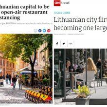 Vilniaus dovana lauko kavinėms – pasaulio žiniasklaidos akiratyje