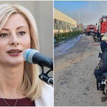 Ministrė: sudegusi padangų masė iš Alytaus bus išvežama į Šiaulius