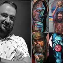 Tatuiruočių meistras J. Mikalauskas: tatuiruotes renkasi laisvi ir drąsūs žmonės