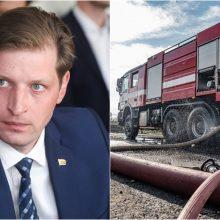 Ministras apie gaisrą Alytuje: atsiprašome visų Lietuvos gyventojų