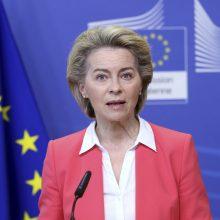 U. von der Leyen: ES iki liepos pabaigos turės pakankamai vakcinų 70 proc. suaugusiųjų