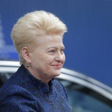 Prezidentė perspėja: ES lyderių įtaka dalinant aukščiausius postus slopsta