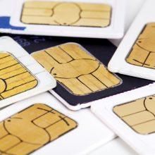 Siekiama atsisakyti įprastų SIM kortelių