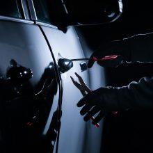 Garažų masyve Vilniuje apvogti devyni automobiliai