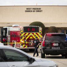 Teksase bažnyčios lankytojai nukovė užpuoliką, nušovusį du žmones