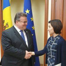L. Linkevičius pirmasis iš ES ministrų apsilankė Moldovoje po valdžios pasikeitimo