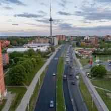 Vilniuje toliau atnaujinamas Laisvės prospektas
