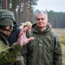 Plintant virusui G. Nausėda žada paramą Lietuvoje dislokuotam NATO batalionui